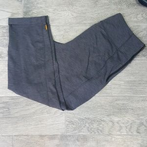 Lucy Cuffed Ankle Leggings Dark Gray Sz Large